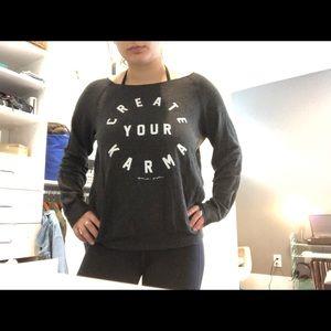 "Sweaters - ""Create your karma"" sweatshirt pullover"